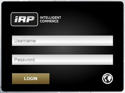 IRP Admin Login screen