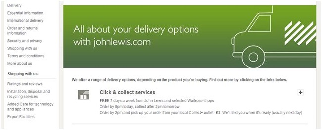 John Lewis — making the most of Click and Collect