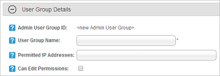 User Group Details section