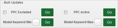 PPC Model Settings Bulk Updates link