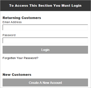 IRP Mobile Login page