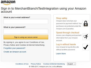 Amazon Account Authentication Details