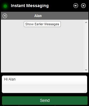 Instant Messaging write a message screen