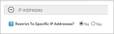 Restrict To Specific IP Addresses - No
