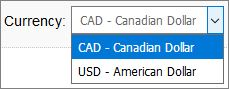 Additional Display Currency added for Canada