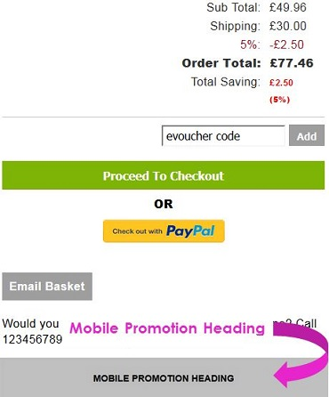 Screen capture showing the location of the Mobile Promotion Heading banner on IRP websites.