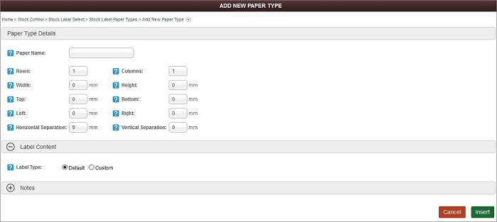 Add Default Paper Type