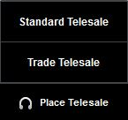 Place Telesale button for trade and retail