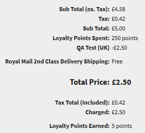 IRP Points Based Loyalty Scheme