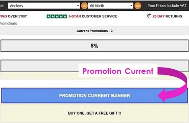 Screen capture showing the location of the Promotion Current banner on IRP websites.