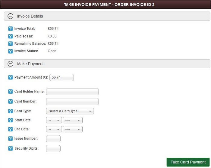 IRP Trade Take Invoice Payment