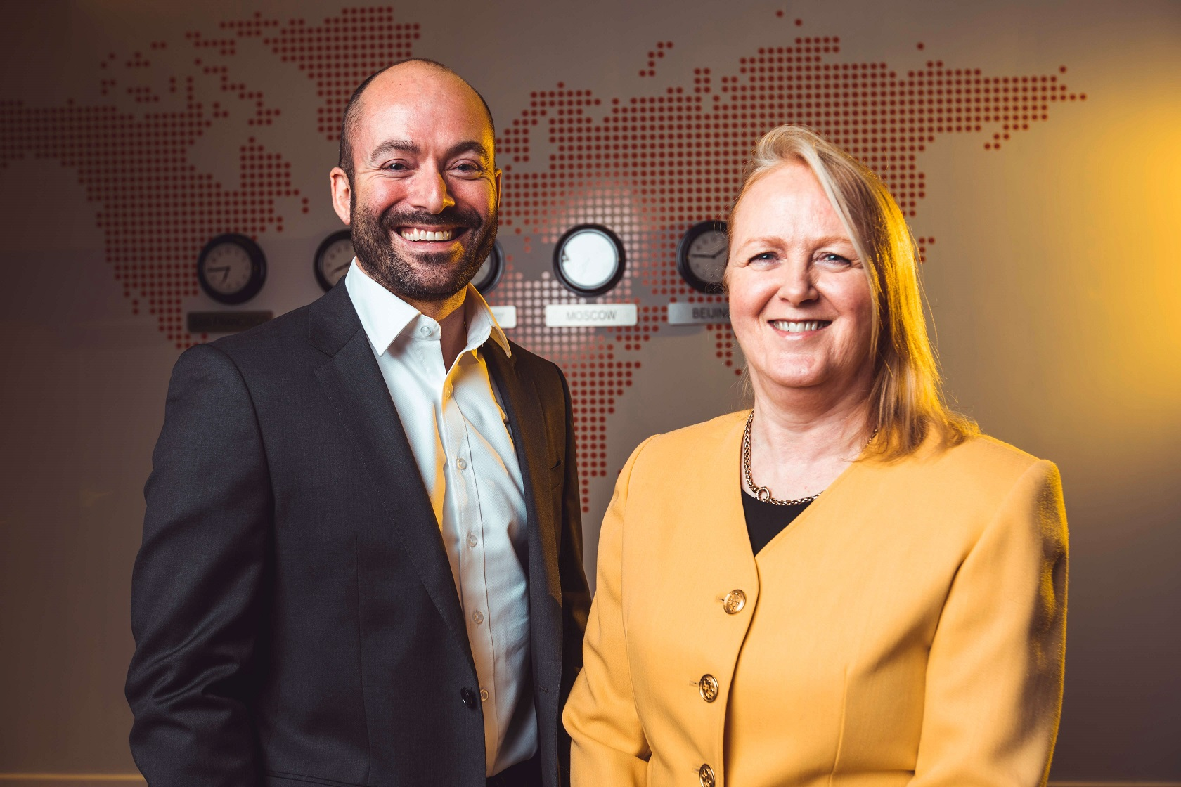Highlighting IRP Commerce's inclusion in the Fast 50 for the seventh time are Caroline Greer, IRP Commerce Finance Director and Peter Allen, Deloitte Financial Advisory Partner