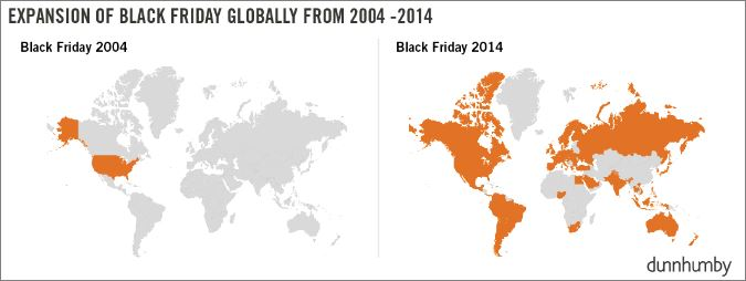 How Black Friday is Expanding Around The World (Dunnhumby, 2015)