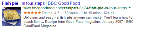 Example recipe snippet