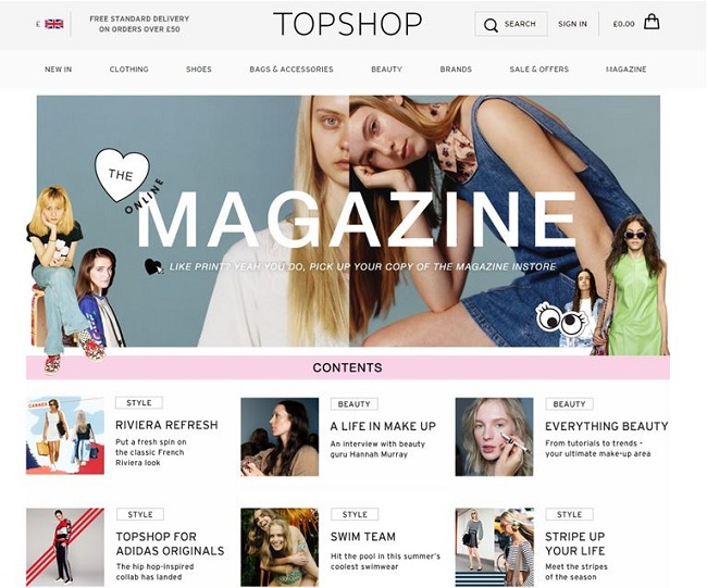 Topshop — making the most of engagement opportunities